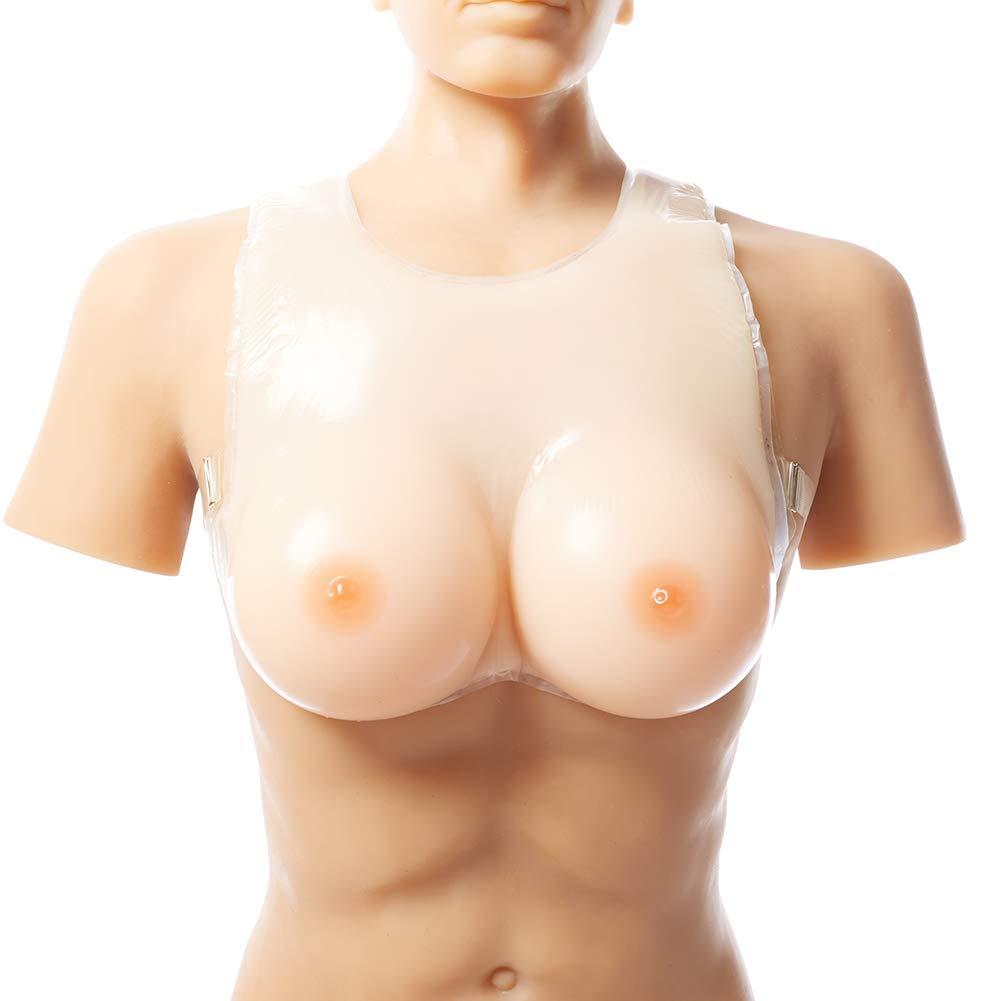 Men Women Skin color Silicone Breast Forms Realistic Feel Enhancer Fake Boobs Bra,5XL
