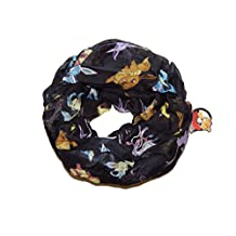 Pokemon Evolutions of Eevee Infinity Fashion Viscose Black Scarf Licensed New