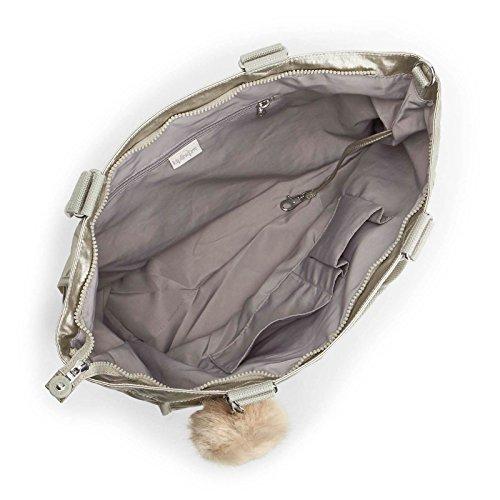 Shopper Silver Sacs Argenté L New Kipling Beige bandoulière RTxAAw
