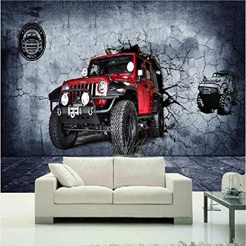Smydp Wall Stickers Murals Photo Wallpaper 3D Stereo Motocross Car Wall Mural Wallpaper Living Room Bedroom Cafe Race Track ()