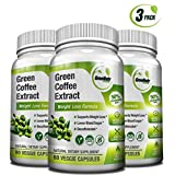 Green Coffee Bean Extract - 50% Chlorogenic Acids * 180 Veggie / Gluten Free Capsules for Natural Weight Loss