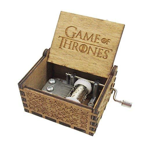 Regalo especial caja de música,juego de tronos hecho a mano de madera grabado para Navidad, regalo de San...