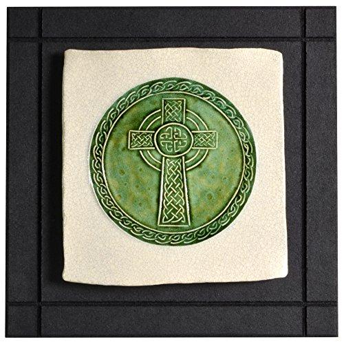 Wild Rose Pottery CP11 Celtic High Cross Art Tile