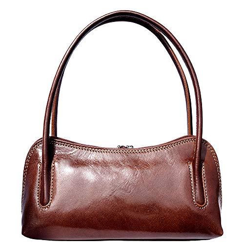 Leather Porté Main Double Market Lanière Marron Avec Épaule Florence Sac À 6886 BXxdqIXH
