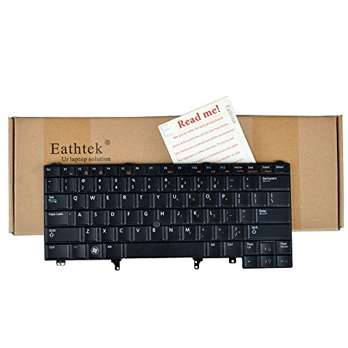 Eathtek Replacement Keyboard with Backlit and Pointer for Dell Latitude E6420 E6320 E5420 E6420ATG series Black US Layout, Compatible with part# CN5HF 0CN5HF NSK-DV0BC PK130FN1B00 9Z.N5MBC.001