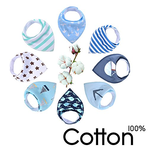 Cheapest Price! Baby Bandana Drool Bibs Set By VBELKHV,Unisex 8-Pack Absorbent Bibs for Drooling and Teething,100% Organic Cotton,Cute and Stylish