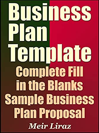 Amazon Business Plan Template Complete Fill In The Blanks