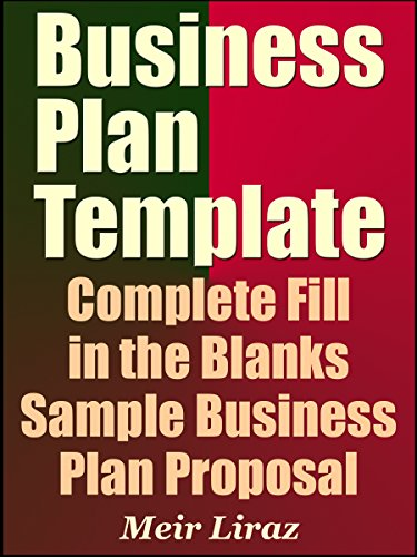 Amazoncom Business Plan Template Complete Fill In The Blanks - Example business plan template
