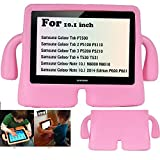 Y&M(TM)Samsung Galaxy a Tab Kids Case ,Childproof Shockproof Drop Resistance Portable Handle Lifeproof Protective Case Tablets Cover for Samsung Galaxy Tab 2 P5110 P5100 10.1 inch/Tab 3 P5200 P5210 10.1 inch - Pink