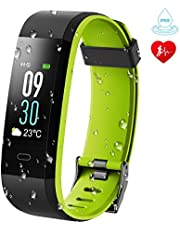 KARSEEN Fitness Tracker, Activity Tracker IP68 Waterproof Fitness Watch Heart Rate Monitor Colorful OLED Screen Smart Watch