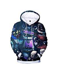 God Sweet Boys 3D Five Nights at Freddys Hoodie Hooded Active Sweatshirt