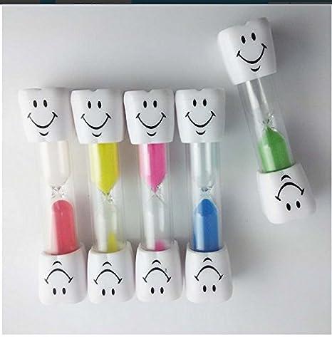 lescorecor (TM) Tonsee reloj de arena Kids Cepillo de dientes temporizador de 2 minutos arena huevo temporizador sonriente, color amarillo saludable Cuidado ...
