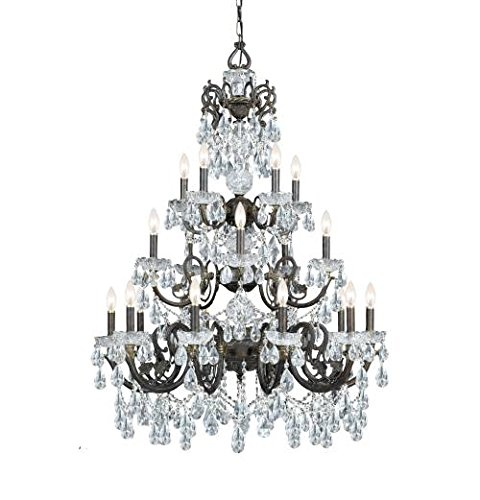 Crystorama 5190-EB-CL-I Legacy - Twenty Light Chandelier, English Bronze Finish with Italian Crystal Crystal Twenty Light