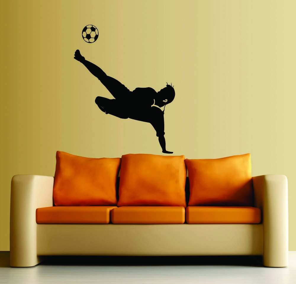 Large--Easy instant decoration wall sticker wall mural Sport boy ...