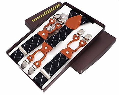 vari stili nuova selezione 100% originale LLZGPZBD Bretelle/Moda Bretelle Da Uomo 6 Clip Bretelle In ...