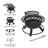 BALI OUTDOORS Wood Burning Fire Pit Backyard with