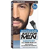 Brush-in Mustache Beard And Sideburns Natural Real Black Kit