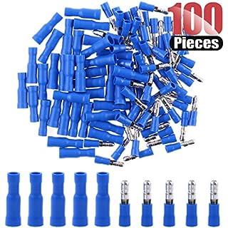 Sale Off Hilitchi 100pcs 16-14 Gauge Insulated Male/Female Bullet Quick Splice Wire Terminals Wire Crimp Connectors Set