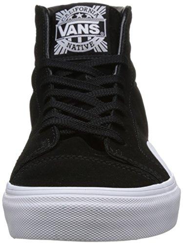 Vans Mens Svart / Vit Infödda Mocka Stil 238 Sneakers