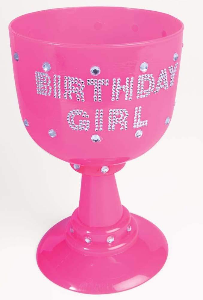 Birthday Girl Forum Novelties Jumbo Plastic Pink Goblet