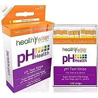 Tiras reactivas de pH 120ct: analiza los niveles de pH corporal para niveles alcalinos y ácidos usando saliva y orina. Realice un seguimiento y controle su equilibrio de pH y una dieta saludable, obtenga resultados precisos en segundos. Escala de pH