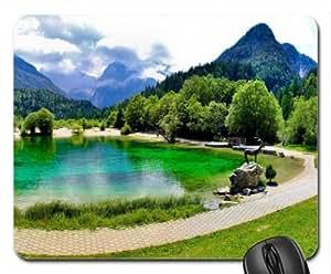 Slovenia-Kranjska Jasna Gora-Lake Mouse Pad, Mousepad (Lakes Mouse Pad)