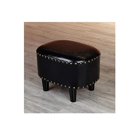 Tremendous Amazon Com Ycsd Vintage Upholstered Ottoman Oil Wax Leather Ibusinesslaw Wood Chair Design Ideas Ibusinesslaworg
