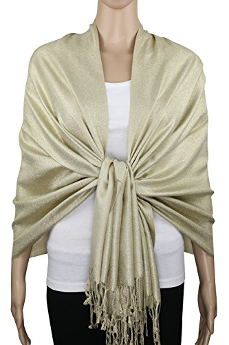Sparkling Metallic Evening Shawl Wrap Scarf for Wedding Prom Party Dress 80