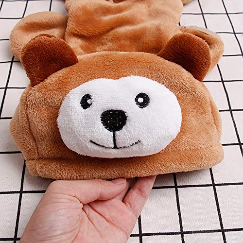 Pet Clothes Dog Cat Cute Pig Brown Bear Elephant Koalas Transfiguration Coat Dress Up Warm Dog Apparel Jacket Small Pet Clothes Sweatshirt Pig Sweater Dog Winter Outfits Doggy Costume (Coffee, S) by succeedtop (Image #5)