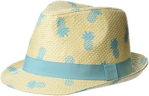 Flap Happy Boys' Toddler Kids UPF 50+ Fedora Hat, Pineapple Club, Large -