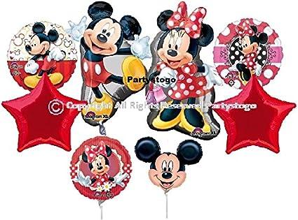 Amazon.com: Mickey y Minnie Globos para fiesta de cumpleaños ...