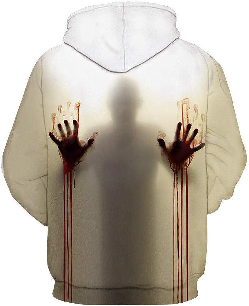 Sweatshirts Tops Herbst Und Winter 3D Digitaldruck Kapuzenpullover Schädel Shirt Paare Baseballuniform A