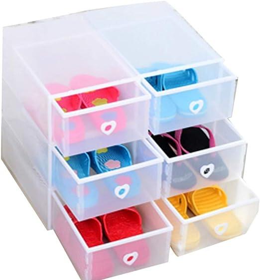 XZDXR Caja De Almacenamiento De Zapatos, Caja De Zapatos Apilable ...