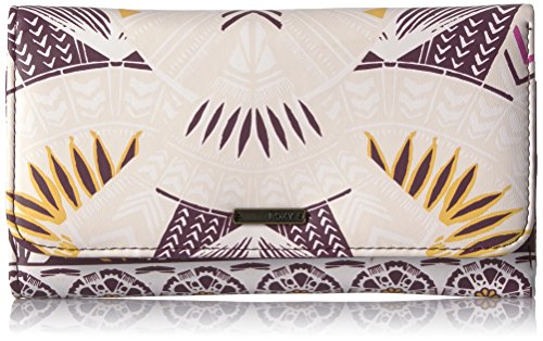 Roxy Women's My Long Eyes Wallet Checkbook Cover, Grape Wine Ax Hippie Hop Border, One Size