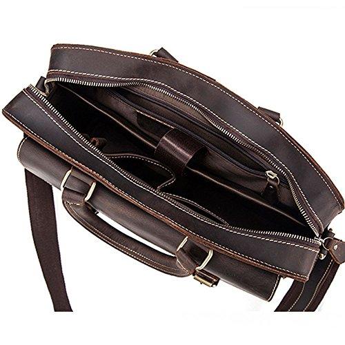 Men's Suitable Bag Casual Shoulder For Satchel Qi Business Briefcase Laptop Bags Bags Retro Leather Bag Notebook Men's Casual Men's Vintage 0fxq4Ot