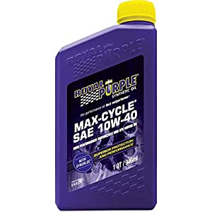 Royal Purple 01315 Max Cycle 10W-40 High Performance Synthetic Motorcycle Oil - 1 qt.
