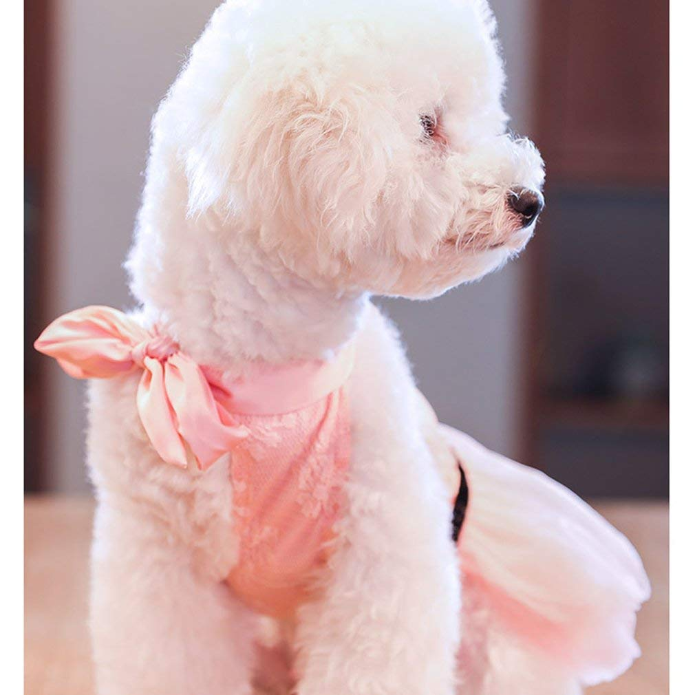 Yogasada Puppy Dog Cloth Dress Thin Section Cute Princess dressPink XXL Pink