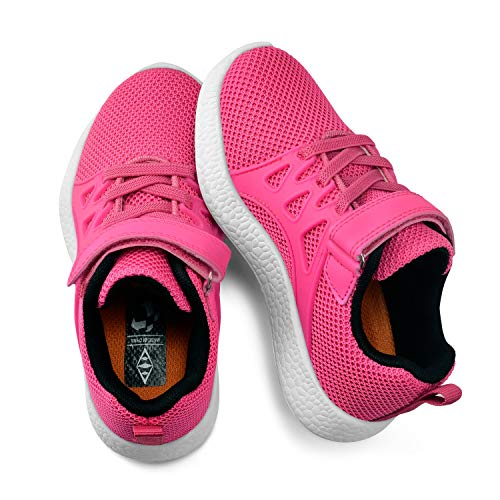 (KIKOSOCKS Kids Sneakers Children Shoes Girls Trainers Air Mesh Breathable Shoes Rose 9 M US)