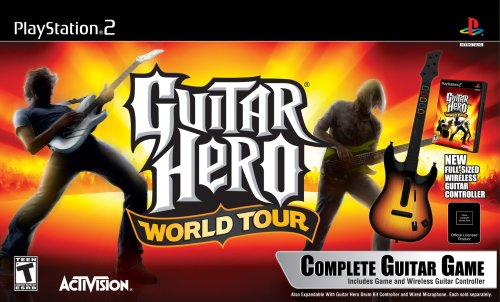 (PS2 Guitar Hero World Tour Guitar Kit)