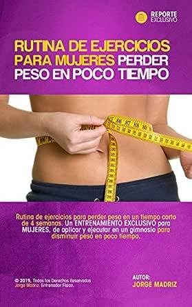 Ejercicios para bajar de peso en el gym para mujeres