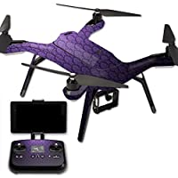 MightySkins Protective Vinyl Skin Decal for 3DR Solo Drone Quadcopter wrap cover sticker skins Antique Purple