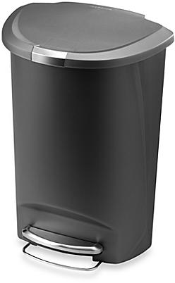 simplehuman® Plastic Semi-Round 50-Liter Step-On Trash Can - BedBathandBeyond.com