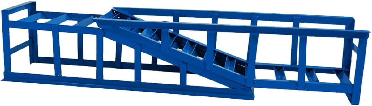 max. 225 mm Reifenbreite PKW Rampe Auffahrbock mit 22 Grad Auffahrwinkel und 210 mm Auffahrh/öhe Helo 2 St/ück KFZ Auffahrrampe blau 2000 kg Belastung pro Paar