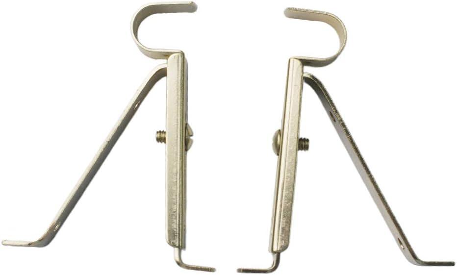 19mm Adjustable Graphite Black Nickel Curtain Pole Passing Centre Rod Brackets