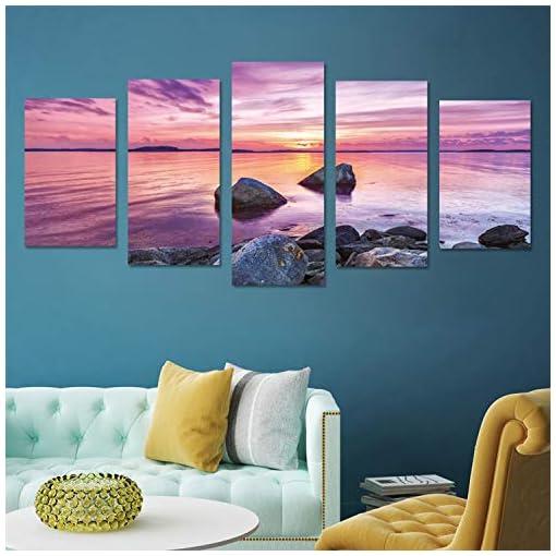 Ocean Wall Mural Sunset Ocean Art Poster Wallpaper Decor Tapestry Decor Wall Art