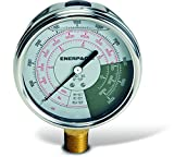 Enerpac GF5P Hydraulic Force and Pressure Gauge, 0 to 10000 PSI, 0 to 10000 bar, 0 to 5 Ton, Silver