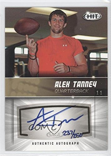 Alex Tanney #237/250 (Football Card) 2012 SAGE Hit - Autographs - Gold #A111
