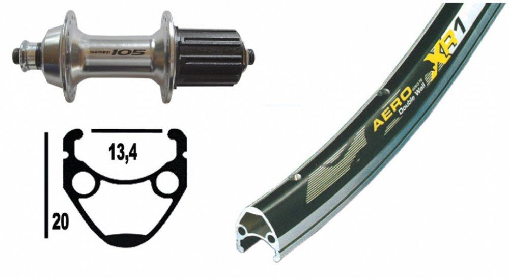 Bike-Parts 28´´ Hinterrad Exal XR-1 + Shimano 105 10 11-fach (QR)