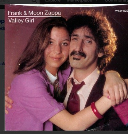 Frank & Moon Zappa ~ Barking Pumpkin 2972 45 w/PS Vinyl Record (1400)