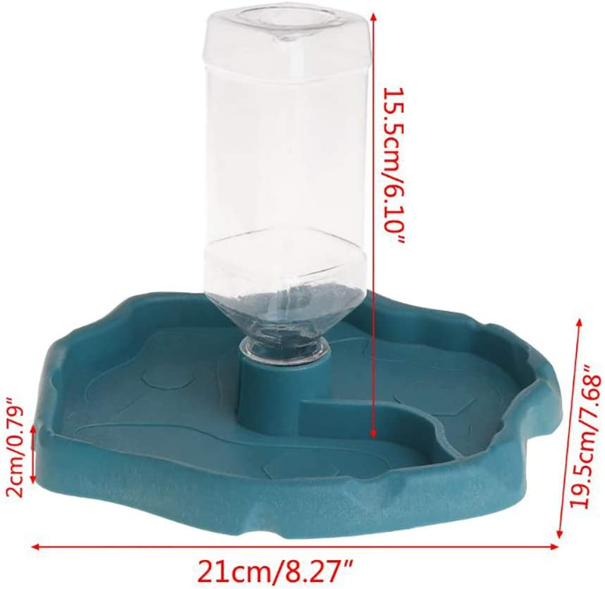 PIVBY Reptile Food Water Bowl Automatic Dispenser Bottle Turtle Feeders Waterer for Lizards Tortoises or Reptiles Gecko Chameleon Coffee